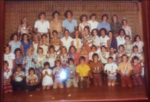 Field Club Swim Team circa '70's - LR top/center