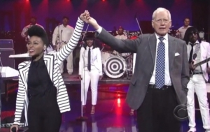 Marcus Lewis on Letterman with Janelle Monáe