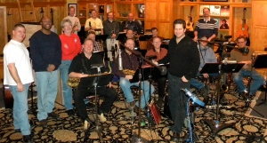 "Gooch & his Las Vegas Big Band recording their first CD ""The Other Half of Me"""