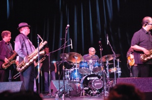 BEAT MASTER: Ron. E. Beck handled drum duties for Tower of Power at a 2008 concert in San Mateo