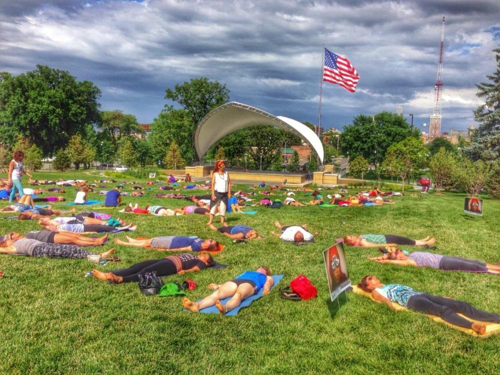 Yoga In The Park with Susi Amendola Credit: Sandy Aquila